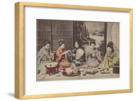 Dinner Party- The Kyoto Collection-Framed Art Print