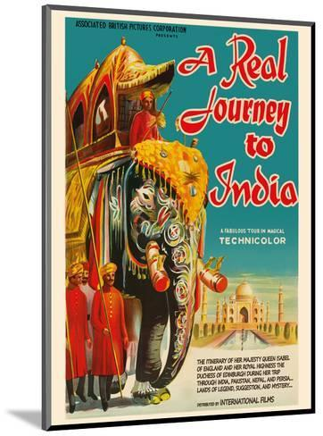 A Real Journey To India - Queen Elizabeth's trip through India, Pakistan, Nepal and Persia-Pacifica Island Art-Mounted Art Print