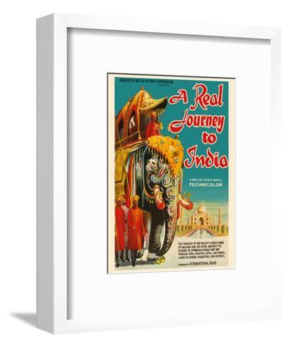 A Real Journey To India - Queen Elizabeth's trip through India, Pakistan, Nepal and Persia-Pacifica Island Art-Framed Art Print