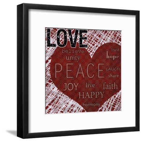 Love - Red Heart-Louise Carey-Framed Art Print