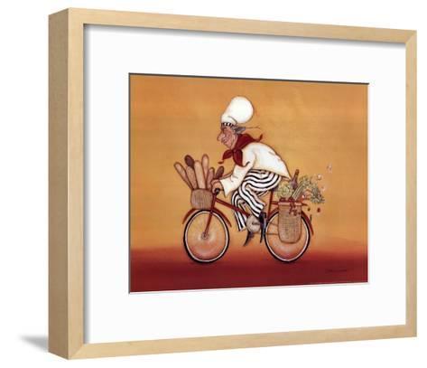 Biking Chef-Stephanie Marrott-Framed Art Print