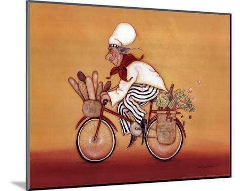 Biking Chef-Stephanie Marrott-Mounted Art Print