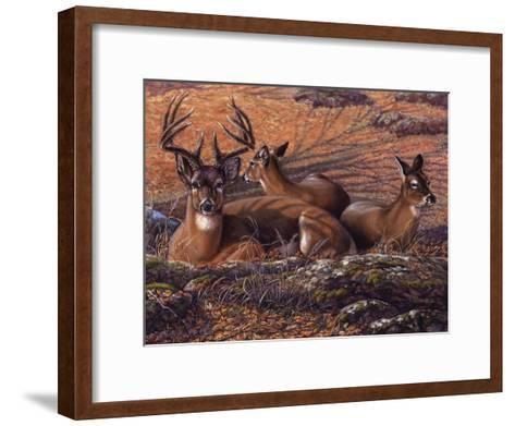 Bed of Leaves-Carolyn Mock-Framed Art Print