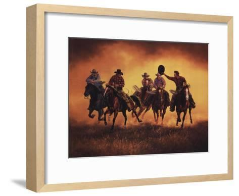Kickin Up Dust-Jack Sorenson-Framed Art Print