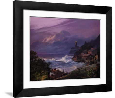 Sunset Fog-Michael Humphries-Framed Art Print
