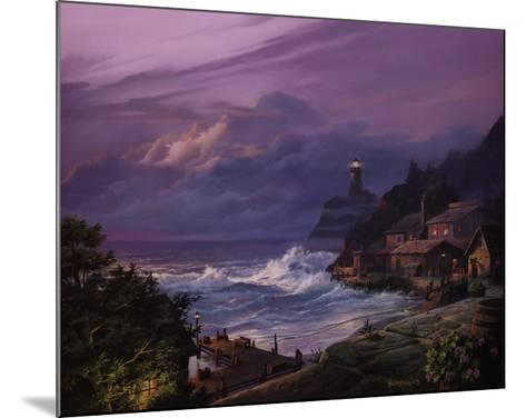 Sunset Fog-Michael Humphries-Mounted Art Print
