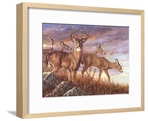 Evening Gold-Carolyn Mock-Framed Art Print