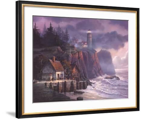 Harbor Light Hideaway-Michael Humphries-Framed Art Print