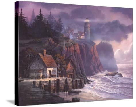 Harbor Light Hideaway-Michael Humphries-Stretched Canvas Print