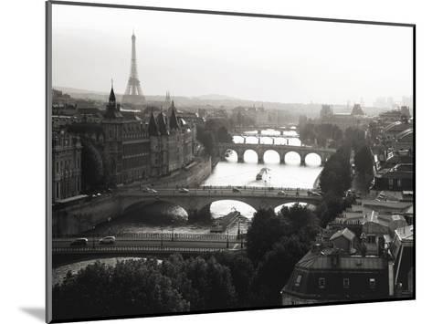 Bridges over the Seine river, Paris-Michel Setboun-Mounted Art Print