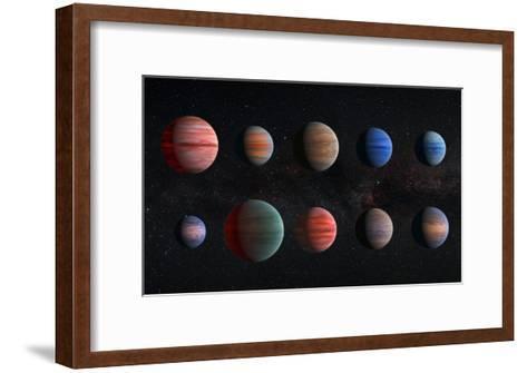 Artist Impression of Hot Jupiter Exoplanets - Unannotated--Framed Art Print