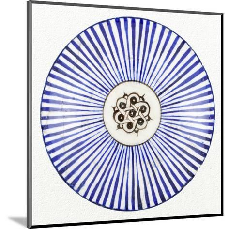 Blue Striped Bowl-Unknown 13th Century Persian Artisan-Mounted Art Print