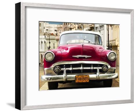 Classic American car in Habana, Cuba-Gasoline Images-Framed Art Print