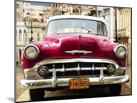 Classic American car in Habana, Cuba-Gasoline Images-Mounted Art Print