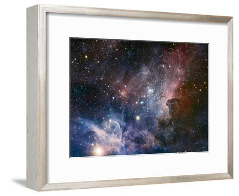 Carina Nebula Infrared from HAWK-I-ESO-Framed Art Print