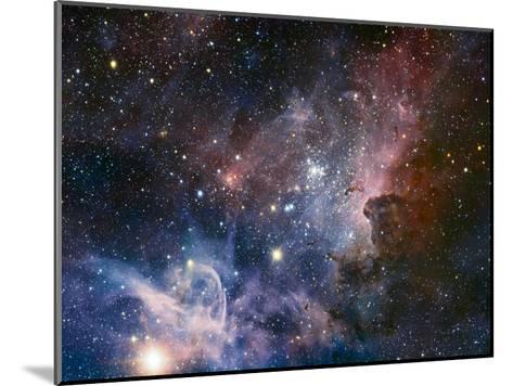 Carina Nebula Infrared from HAWK-I-ESO-Mounted Art Print