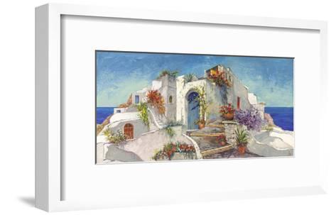 Casa nelle Cicladi-Luigi Florio-Framed Art Print