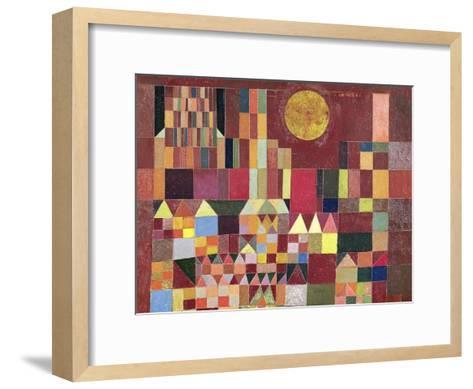 Castle and Sun (detail)-Paul Klee-Framed Art Print