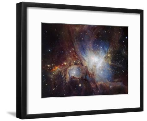 Deep infrared view of the Orion Nebula from HAWK-I-ESO-Framed Art Print