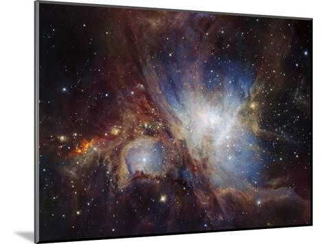 Deep infrared view of the Orion Nebula from HAWK-I-ESO-Mounted Art Print
