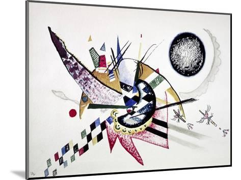 Watercolor Painting of Composition-Wassily Kandinsky-Mounted Art Print