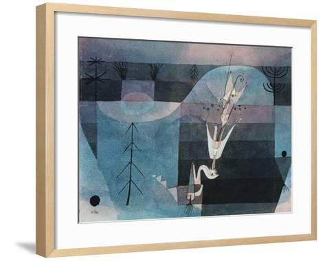 Wallflower (detail)-Paul Klee-Framed Art Print