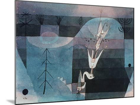 Wallflower (detail)-Paul Klee-Mounted Art Print