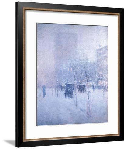 Late Afternoon, New York: Winter-Frederick Childe Hassam-Framed Art Print