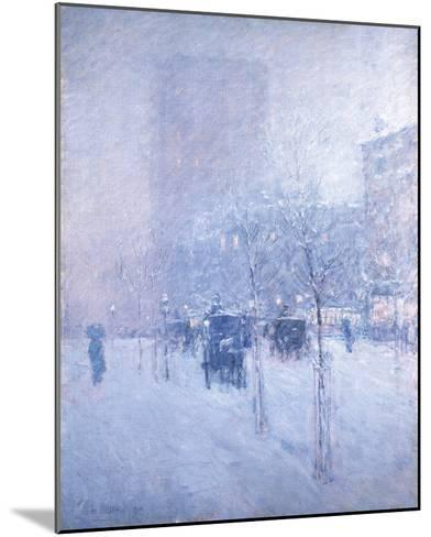 Late Afternoon, New York: Winter-Frederick Childe Hassam-Mounted Giclee Print