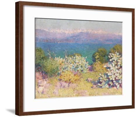 In the Morning, Alpes Maritime from from Antibes-John Peter Russell-Framed Art Print