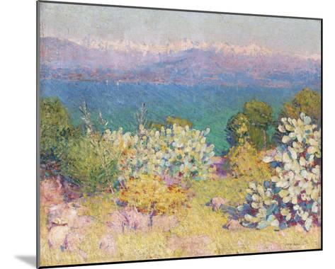 In the Morning, Alpes Maritime from from Antibes-John Peter Russell-Mounted Giclee Print