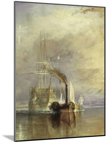 The Fighting Temeraire - Detail-J^ M^ W^ Turner-Mounted Giclee Print