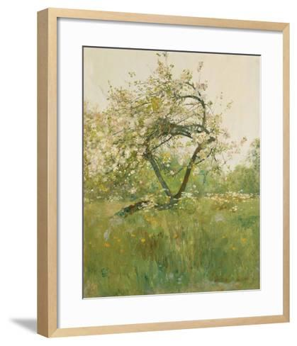 Peach Blossoms - Villiers-le-Bel-Frederick Childe Hassam-Framed Art Print
