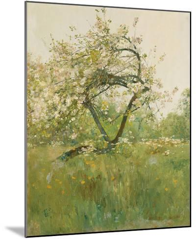 Peach Blossoms - Villiers-le-Bel-Frederick Childe Hassam-Mounted Premium Giclee Print