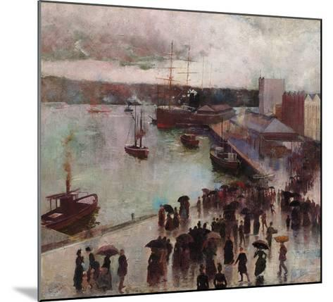 Departure of the Orient-Charles Conder-Mounted Premium Giclee Print