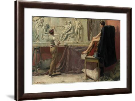 The Sculptor's Studio-Tom Roberts-Framed Art Print