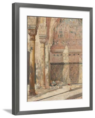 Basking - a corner in the Alhambra-Tom Roberts-Framed Art Print