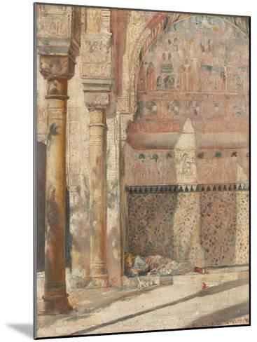 Basking - a corner in the Alhambra-Tom Roberts-Mounted Premium Giclee Print