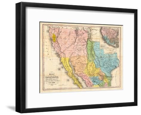 Map of California, New Mexico-Bill Cannon-Framed Art Print