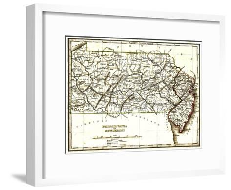 Pennsylvania & New Jersey-Bill Cannon-Framed Art Print