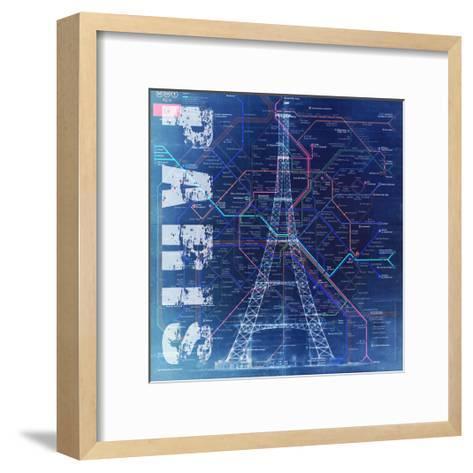 PARIS- Blue-Bill Cannon-Framed Art Print