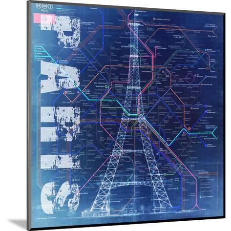 PARIS- Blue-Bill Cannon-Mounted Giclee Print