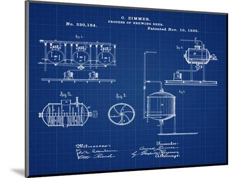 Brewing Process 1885 Blueprint-Bill Cannon-Mounted Giclee Print
