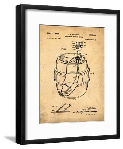 EZ Tap Keg sepia-Bill Cannon-Framed Art Print