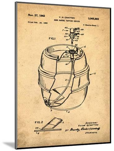 EZ Tap Keg sepia-Bill Cannon-Mounted Giclee Print