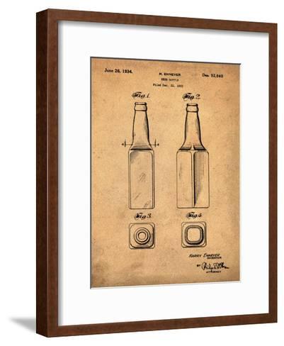 Beer Bottle 1934 Sepia-Bill Cannon-Framed Art Print