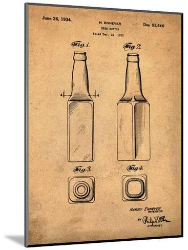 Beer Bottle 1934 Sepia-Bill Cannon-Mounted Giclee Print