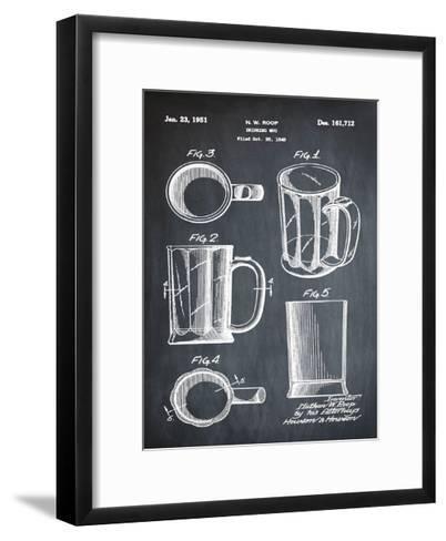 Beer Mug 1951 Chalk-Bill Cannon-Framed Art Print
