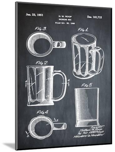 Beer Mug 1951 Chalk-Bill Cannon-Mounted Giclee Print