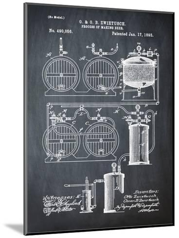 Brewery Patent 1891 Chalk-Bill Cannon-Mounted Giclee Print